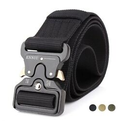 Tactical Belt with Quick Release Metal Buckle Military Style Riggers Web Belt $5.99