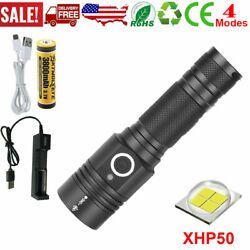 High Power 90000LM LED Flashlight On or off clickComplete with Charger PH $27.63