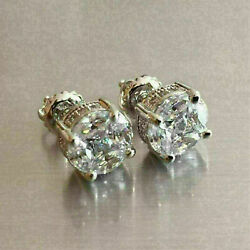 2.00Ct Round Cut Diamond Antique For Womens Stud Earrings In 14K White Gold Over $42.31