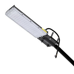 100W LED Street Light Commercial Outdoor Garden Security Road Spot Flood Lamp US