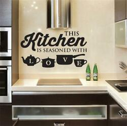 Wall Sticker PVC Kitchen Home Art Wall Decal Bedroom Room Decoration Accessories $8.99