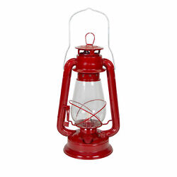 STANSPORT HURRICANE LANTERN RED 12 IN METAL GLASS GLOBE OUTDOOR CAMPING NEW $21.99