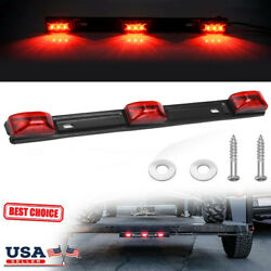 3 Light 9 LED Red Clearance ID BAR Marker Light Trailer Sealed Lamp Waterproof $9.99