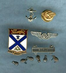 MILITARY SMALL ASSORTMENT OF PINS COLLECTION 11 PCS. $14.99