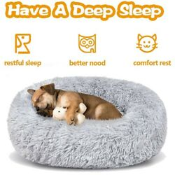 Dog Beds Large Dogs Large Medium Small Dog Long Plush Calming Bed S M L XL XXL $19.99