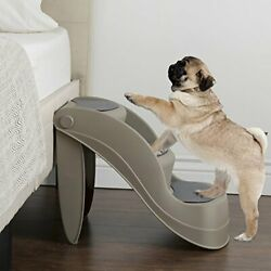 Foldable Pet Stairs 3 Non slip Steps Dog Ladder w Support Frame for High Bed $40.35