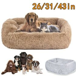 Large dog beds X Large for Large Dogs Long Plush Pet Cat Calming Bed Mat $37.99