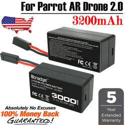 2X 3000mAh 11.1V Rechargeable Battery For Parrot AR Drone 2.0 Quadricopter XM US $29.99