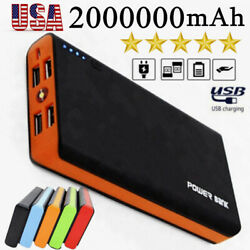 2000000mAh 4 USB Power Bank Backup External Battery Pack Charger for Cell Phone $4.38