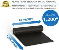 """Kraft Packing Arts and Crafts Paper Black Roll 18"""" x 100 Ft 1200quot; Heavy Duty USA $25.89"""