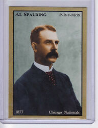 AL SPALDING PITCHER CHICAGO WHITE SOX FOUNDER amp; BASEBALL PIONEER 47 WINS $3.49