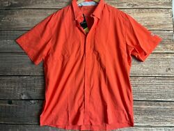 Under Armour UA Men#x27;s Tide Chaser 2.0 Red Coral Size 2XL Button Up Shirt Hunt $36.99