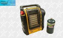 Mr. Heater Portable Buddy Indoor Safe Propane Radiant Heater MH9BX with Cylinder $74.96