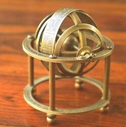 Collectible Astrolabe Globe Antique Brass Armillary Sphere Maritime Décor amp; gift $69.00