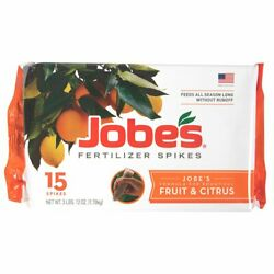Jobe#x27;s Fertilizer Spikes Fruit and Citrus Tree for Apple Peach Cherry Nut Trees $16.99