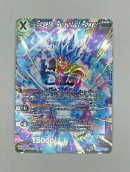 Gogeta Pursuit of Power Gold Stamp Foil Dragon Ball Super Card Game NM $9.99