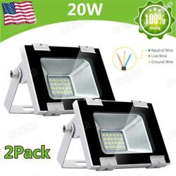 2x 20W LED Flood Light High Power Cool White Lighting Indoor Outdoor Fixtures