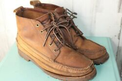 J.Crew 10.5 M Moc toe Ankle Laced Hiking Men#x27;s Boots $37.50