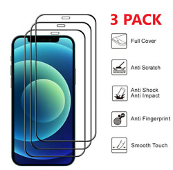 3x Full Coverage Tempered Glass Screen Protector For iPhone 13 12 11 Xs Pro MAX $6.49