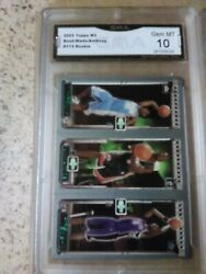 2003 Dwyane Wade Graded Topps Matrix Rc With 3 Card Lot $174.49