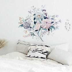Lovel Flowers Wall Decals Self Adhesive Mural Wall Stickers Home Decoration PVC $6.88