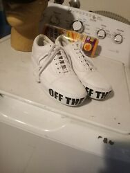 VANS Off The Wall White Men#x27;s Skate Shoes Low Top Sneakers Size 7.5M 9W US $24.90
