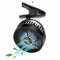 Rechargeable Clip Fan with LED Lantern Rechargeable Battery Operated Tent Fan $29.45