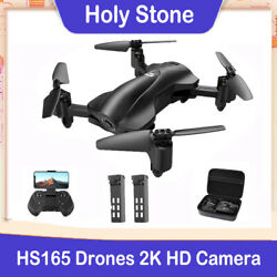 Holy Stone HS165 Drone with 2K HD Camera Foldable RC Quadcopter GPS 2 battery $129.00