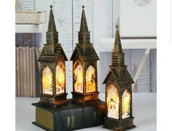 Halloween Christmas Lamp Castle Witch Lights Party LED Lantern Gift $9.80
