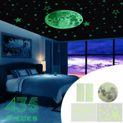Fluorescent Stars Planet On Wall Sticker Decal Glow In The Dark Luminous Bedroom $6.65