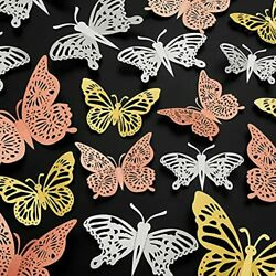 72Pcs 3D Butterfly Wall Decor Wall DecorationsRemovable Butterfly Wall Decals... $17.70