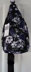 NWT NEW VERA BRADLEY LIGHTEN UP FROSTED FLORAL SMALL COMPACT SLING BACKPACK $59 $22.99