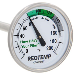 REOTEMP Backyard Compost Thermometer with PDF Composting Guide Fahrenheit 16 $23.99