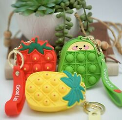 Coin Purse Bubble Pop it Fidget Cute Toys Stress Relief Silicone Games Gift $9.66