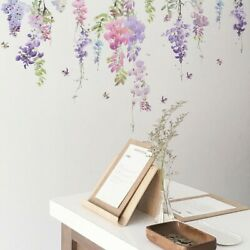 DIY Floral Wall Sticker Butterfly Flower Plant Decal Living Room Home Stickers $9.37