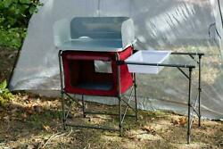 Deluxe Camp Kitchen for Fishing Camping Stove Kitchen with Storage amp; Sink Table $67.88