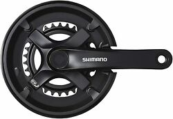 SHIMANO Crankset FC TY501 2 Black 46X30T 175mm 8S 7S with chain guard ・ Compat $61.31