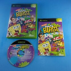 Nickelodeon Party Blast Xbox Complete In Box Cleaned Tested $9.95