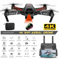 4K HD WiFi RC Drone Infrared Induction Dual Cameras Quadcopter 3 Batteries $57.99