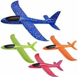 Airplane Throwing Foam Plane Glider Airplane Gifts for Kids 4 pack 15 inch $18.97