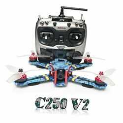 C250 V2 250mm RC Quadcopter FPV Racing Drone RTF with Flycolor 4 in 1 S Tower $456.59