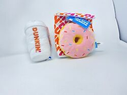 RARE BARK Dog Toy Set Dunkin Donut w Crinkle Bag Coffee ToGo Cup NEW Squeakers $60.00