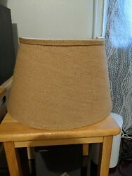 Burlap country chic lamp shades set of 2 $10.00