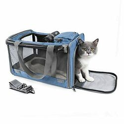 Petsoul Cat Carrier Airline Approved Collapsible Pet Travel Carriers $53.06