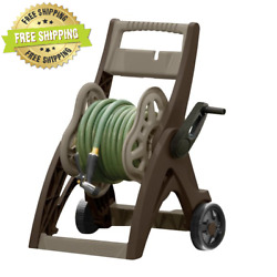 NEW Suncast 150#x27; Hosemobile® Hose Reel Cart and Hideaway Mocha and Taupe $30.50