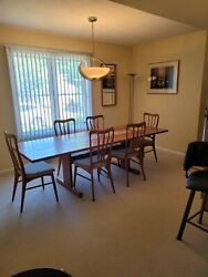 Vintage Danish Teak Dining Table with Ceramic Tile Inlay Table Only $500.00