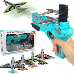 Toy Gun Catapult Foam Plane Airplane Ejection One Click Bubble Launcher Shooting $18.98