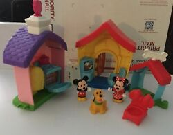 Disney Little People playhouse with mickey and minnie mouse and Pluto $22.00