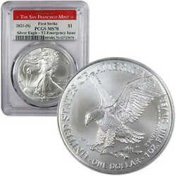 2021 S Type 2 American Silver Eagle MS 70 PCGS First Strike Emergency Issue $69.95