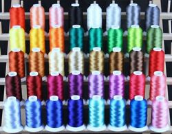 40 LARGE MACHINE EMBROIDERY THREADS HOLIDAY for BERNINA $39.95